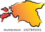 stylized yellow red gradient...   Shutterstock .eps vector #1427845241