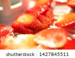 strawberry berries cut dry... | Shutterstock . vector #1427845511