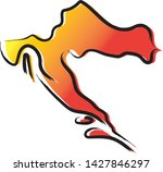 stylized yellow red gradient...   Shutterstock .eps vector #1427846297