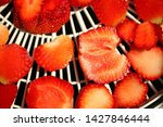 strawberry berries cut dry... | Shutterstock . vector #1427846444