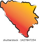stylized yellow red gradient...   Shutterstock .eps vector #1427847254