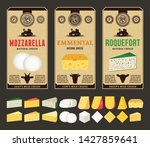 vector cheese vintage labels... | Shutterstock .eps vector #1427859641