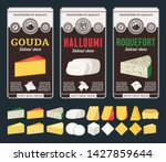 vector cheese labels and... | Shutterstock .eps vector #1427859644