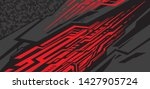 sport car decal wrap design...   Shutterstock .eps vector #1427905724
