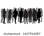 silhouette of a woman. vector... | Shutterstock .eps vector #1427916587