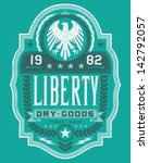 vintage americana style liberty ... | Shutterstock .eps vector #142792057