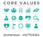 company core values icon set.... | Shutterstock .eps vector #1427926361