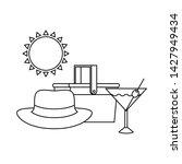 silhouette of cocktail on white ... | Shutterstock .eps vector #1427949434