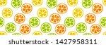 citrus slice seamless pattern.... | Shutterstock .eps vector #1427958311