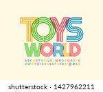 vector colorful sign toys world ... | Shutterstock .eps vector #1427962211