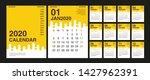 calendar 2020  set desk... | Shutterstock .eps vector #1427962391