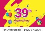 39th years anniversary... | Shutterstock .eps vector #1427971007