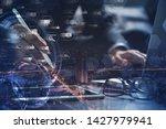 digital marketing media ... | Shutterstock . vector #1427979941