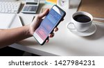 big data concepts with person... | Shutterstock . vector #1427984231