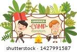 vector illustration of kids... | Shutterstock .eps vector #1427991587