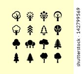 Stock vector tree symbols 142799569