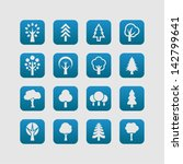 set of tree icons | Shutterstock .eps vector #142799641