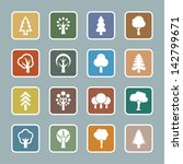 tree icon set | Shutterstock .eps vector #142799671