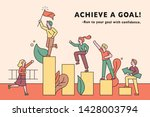people go up in the limit... | Shutterstock .eps vector #1428003794