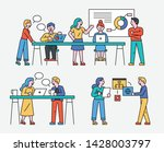 office people working together... | Shutterstock .eps vector #1428003797