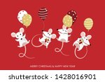 merry christmas and happy new... | Shutterstock .eps vector #1428016901