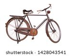 Old Vintage Bicycle Isolated O...