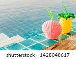 tropical summer drinks beside... | Shutterstock . vector #1428048617