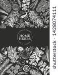 culinary herbs banner template. ... | Shutterstock .eps vector #1428074111
