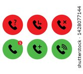call telephone icon call button ...
