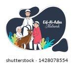 cartoon character of islamic... | Shutterstock .eps vector #1428078554
