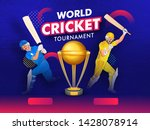 world cricket tournament banner ... | Shutterstock .eps vector #1428078914