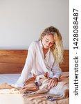 beautiful caucasian woman... | Shutterstock . vector #1428088487