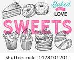 dessert illustration   cake ...   Shutterstock .eps vector #1428101201