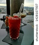 strawberry cocktail with fruit... | Shutterstock . vector #1428107507