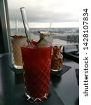 cocktails strawberry daiquiri... | Shutterstock . vector #1428107834