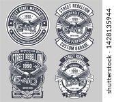 street rebel motorcycle badge... | Shutterstock .eps vector #1428135944