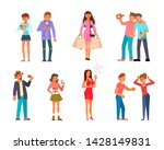 bad habits vector set  ...   Shutterstock . vector #1428149831