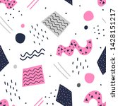 modern geometric memphis... | Shutterstock .eps vector #1428151217