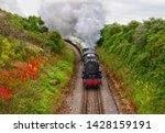 Steam train on Dartmouth Steam Railway