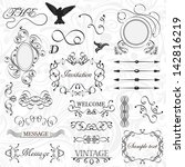 vector set  calligraphic design ... | Shutterstock .eps vector #142816219