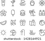 set of beach icons  such as sun ... | Shutterstock .eps vector #1428164921