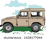 this vehicles are wonderful.... | Shutterstock .eps vector #1428177044