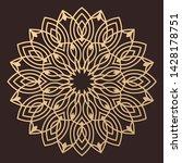laser cutting mandala. wooden... | Shutterstock .eps vector #1428178751