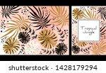 tropical jungle pattern ...   Shutterstock .eps vector #1428179294