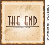 movie ending screen | Shutterstock .eps vector #142818871