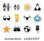 summer beach holidays vector...   Shutterstock .eps vector #142819207