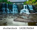 Long exposure of Gooseberry Falls in Minnesota.  Waterfall. State park.