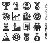 success and victory icons set... | Shutterstock .eps vector #1428197447