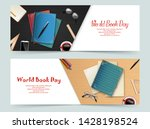 world book day banners template | Shutterstock .eps vector #1428198524