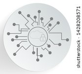 cloud security icon. web... | Shutterstock .eps vector #1428208571